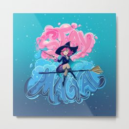 Stay Magical Metal Print