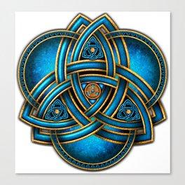 Blue Celtic Triquetra Knot Canvas Print