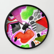 Vibrance Watercolour  Wall Clock