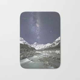 Starry Nights in Mt Cook, New Zealand Bath Mat