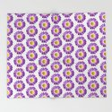 Purple Yellow Daisy Pattern,Retro by costa