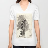 toronto V-neck T-shirts featuring Toronto  by Crystal