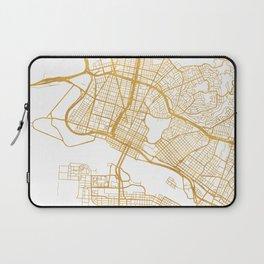 OAKLAND CALIFORNIA CITY STREET MAP ART Laptop Sleeve