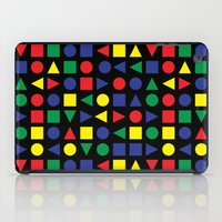 mid century iPad Cases featuring Mid Century Geometric by dukepope