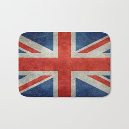 Union Jack flag, grungy retro 1:2 scale Bath Mat