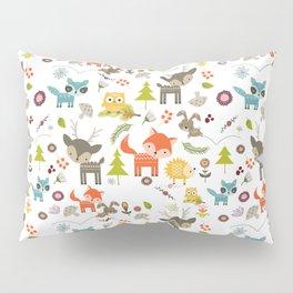 Cute Woodland Creatures Pattern Pillow Sham