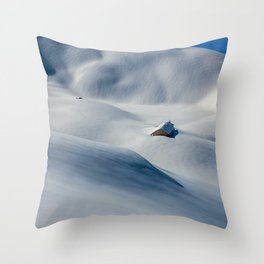That Old Mountain Home Photographic Winter Landscape Throw Pillow