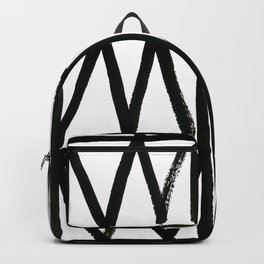 Brush and Ink II Mudcloth Pattern Backpack