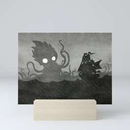 Rany Ship & Kraken Mini Art Print