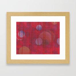 reddish sphere Framed Art Print