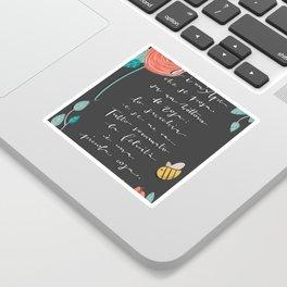 La Felicità - Trilussa Sticker