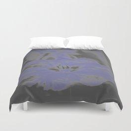 Bloom in Neon Blue Duvet Cover