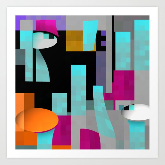 the 3 of us ...always the 3 of us... Art Print