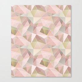 Broken glass in light pink tones. Canvas Print