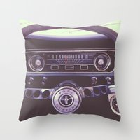 mustang Throw Pillows featuring Mustang by Jeremiah Locke