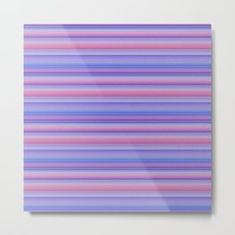 Stripes pink and purple Metal Print