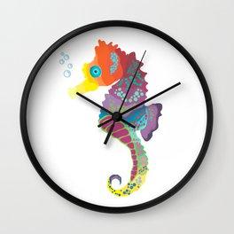Sea me! I'm a beautiful Seahorse Wall Clock