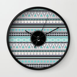 Monogram Tribal Pattern *C* Wall Clock