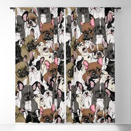 Social Frenchies Blackout Curtain