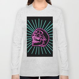 Pink Laughing Skull Long Sleeve T-shirt