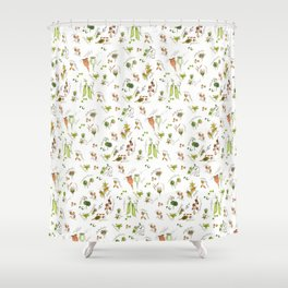 flower's seeds and seedpods Shower Curtain