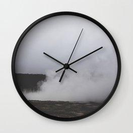 Steaming Geysir Wall Clock