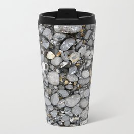 pebbles on the beach Metal Travel Mug