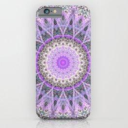 Lovely Lavender Mandala Design iPhone Case