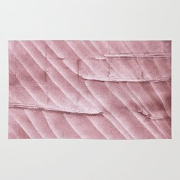 Rosy brown clouded watercolor pattern Rug