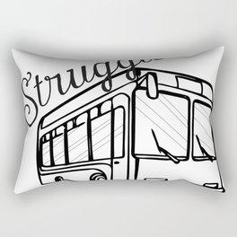 Struggle Bus Rectangular Pillow