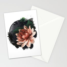 Ink and flowers Stationery Cards