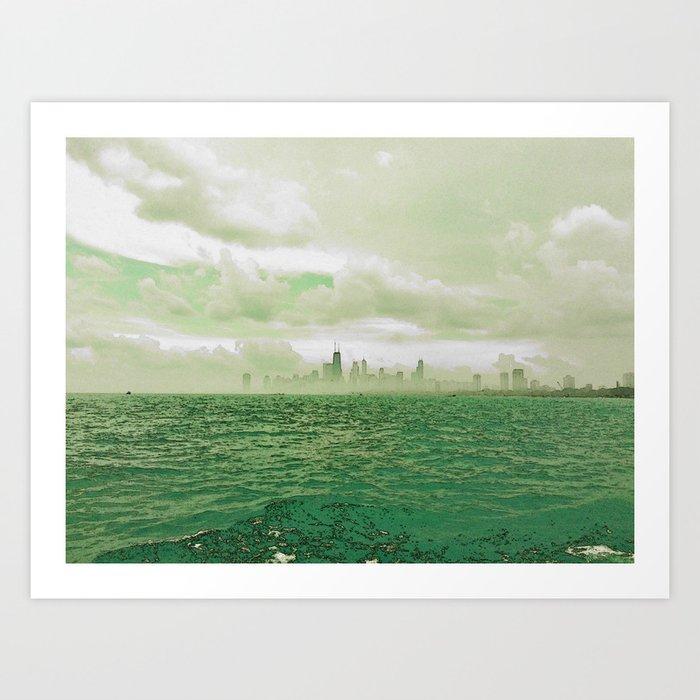 Far Away City #3 Art Print