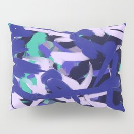 Purple, Pink & Green Thick Abstract Pillow Sham