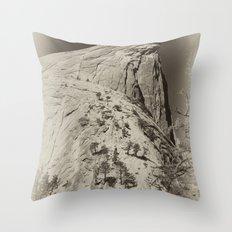 Yosemite Half Domes Backside Re-imagined Throw Pillow