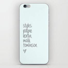 One Direction Last Names iPhone Skin