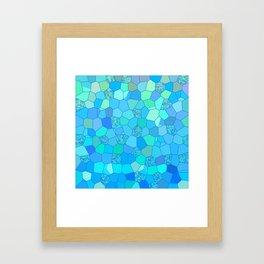 Berzerk Berry Blue Framed Art Print