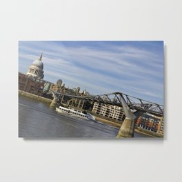 The River Thames Uphill  Metal Print