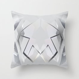 Gray luxury  Modern geometric abstract Throw Pillow