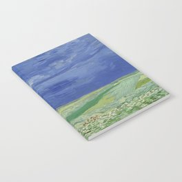 Wheatfield under Thunderclouds Notebook