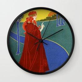 The Sun, American Vintage poster, Louis Rhead Wall Clock