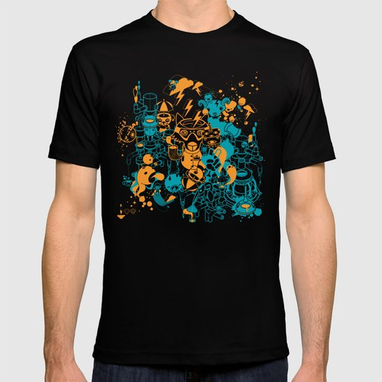 Dream Factory Orange and Blue T-shirt