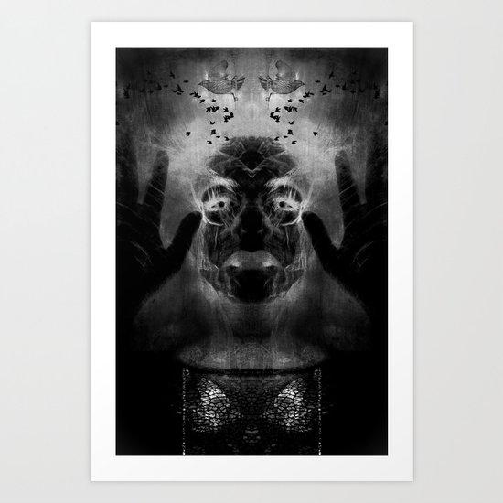 By the light of MY cauldron Art Print