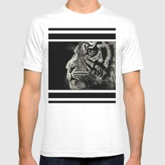 The Magnificent (Tiger) White Mens Fitted Tee MEDIUM