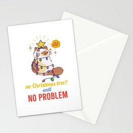 No Christmas Tree No Problem Stationery Cards