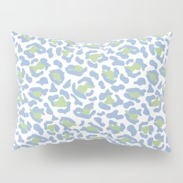 Leopard Print Animal Pattern in Muted Blue and Green Pillow Sham