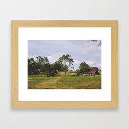 Barn on Hill Framed Art Print