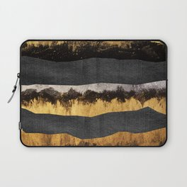 Golden Ocean Waves #1 #abstract #painting #decor #art #society6 Laptop Sleeve