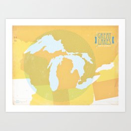 The GREAT LAKES of NORTH AMERICA Art Print