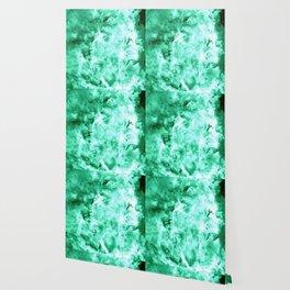 Sea Green Nebula Waves Wallpaper