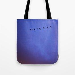 Blue Red Sky Tote Bag